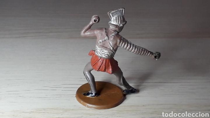 Figuras de Goma y PVC: Gladiador Romano, fabricado en goma, Gama made in Spain, original años 50. - Foto 2 - 218762943