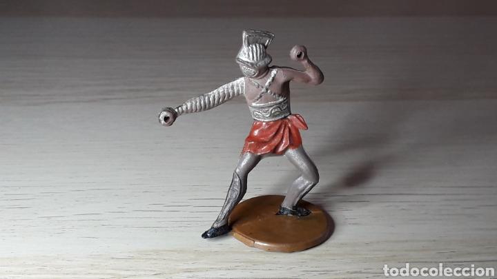 GLADIADOR ROMANO, FABRICADO EN GOMA, GAMA MADE IN SPAIN, ORIGINAL AÑOS 50. (Juguetes - Figuras de Goma y Pvc - Gama)