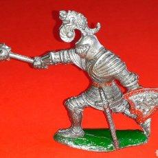 Figuras de Goma y PVC: CABALLERO MEDIEVAL, SERIE GRANDE, FABRICADO EN PLÁSTICO, LAFREDO MADE IN SPAIN, AÑOS 60.. Lote 218768345