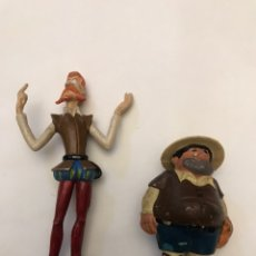 Figuras de Goma y PVC: DON QUIJOTE Y SANCHO PANZA DELGADO ROMAGOSA. Lote 218825321