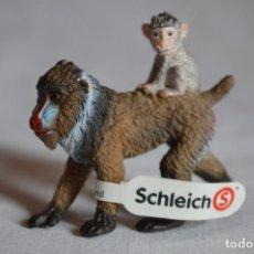 Figurines en Caoutchouc et PVC: MANDRIL HEMBRA CON CRÍA. FIGURA SCHLEICH. 2013. ROMANJUGUETESYMAS.. Lote 218828732