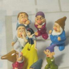 Figuras de Borracha e PVC: LOTE LOS SIETE ENANITOS ,BLANCANIEVES, PRÍNCIPE Y MADRASTRA CON ACCESORIOS. Lote 218836616