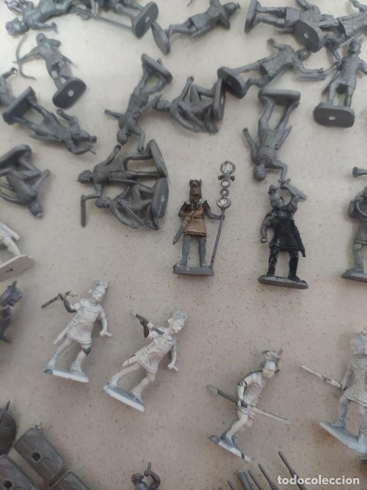Figuras de Goma y PVC: Soldaditos de plástico Infantería romana italeri estilo montaplex - Foto 2 - 218837888