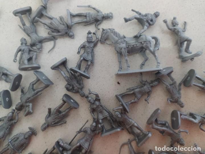 Figuras de Goma y PVC: Soldaditos de plástico Infantería romana italeri estilo montaplex - Foto 4 - 218837888