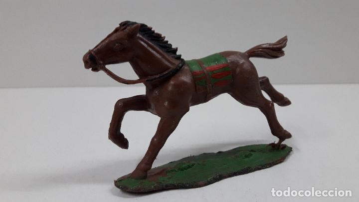 Figuras de Goma y PVC: CABALLO INDIO CON BASE . REALIZADO POR REAMSA . ORIGINAL AÑOS 60 - Foto 2 - 218857511