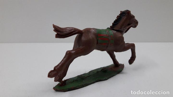 Figuras de Goma y PVC: CABALLO INDIO CON BASE . REALIZADO POR REAMSA . ORIGINAL AÑOS 60 - Foto 3 - 218857511