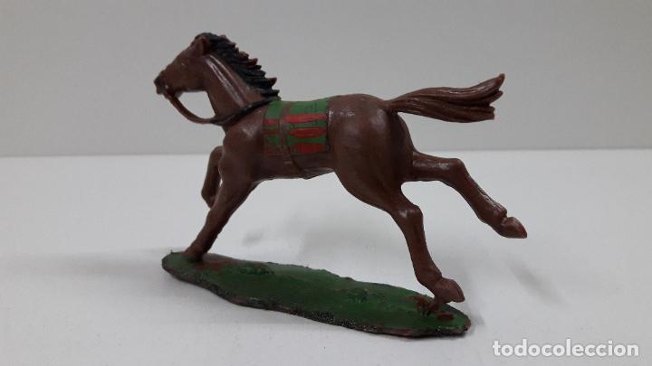 Figuras de Goma y PVC: CABALLO INDIO CON BASE . REALIZADO POR REAMSA . ORIGINAL AÑOS 60 - Foto 4 - 218857511