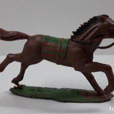Figuras de Goma y PVC: CABALLO INDIO CON BASE . REALIZADO POR REAMSA . ORIGINAL AÑOS 60. Lote 218857511