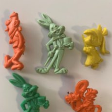 Figuras de Goma y PVC: LOTE PIN BROCHE ALFILER PIPAS CHURRUCA DUNKIN BRUGUERA BUGS BUNNY TELERIN. Lote 218982775