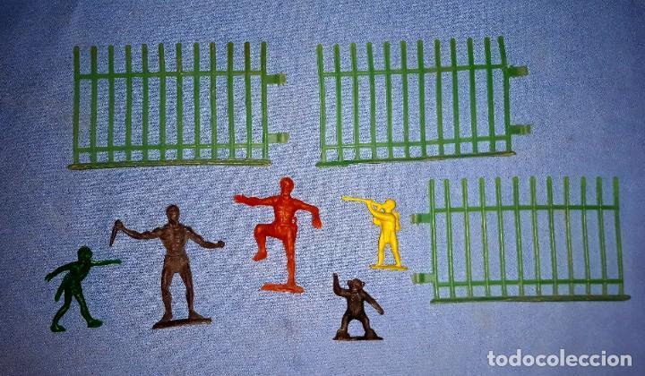 LOTE FIGURAS DE LA SERIE TARZAN DE CREACIONES REYMONT ORIGINAL AÑOS 60 (Juguetes - Figuras de Goma y Pvc - Pipero)