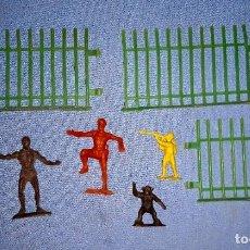 Figuras de Goma y PVC: LOTE FIGURAS DE LA SERIE TARZAN DE CREACIONES REYMONT ORIGINAL AÑOS 60. Lote 219088030