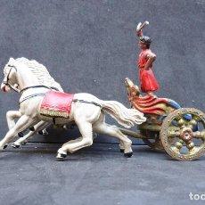 Figuras de Goma y PVC: REAMSA CUADRIGA BEN-HUR GOMA. Lote 219088516
