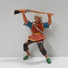Figuras de Goma y PVC: COSACO PARA CABALLO . SERIE EL COSACO VERDE . REALIZADA POR ESTEREOPLAST . ORIGINAL AÑOS 60. Lote 219114486