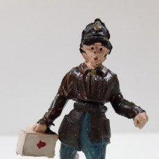 Figuras de Goma y PVC: BOMBERO . REALIZADO POR GAMA - CUERPO DESMONTABLE . ORIGINAL AÑOS 50 . EN GOMA. Lote 219142005