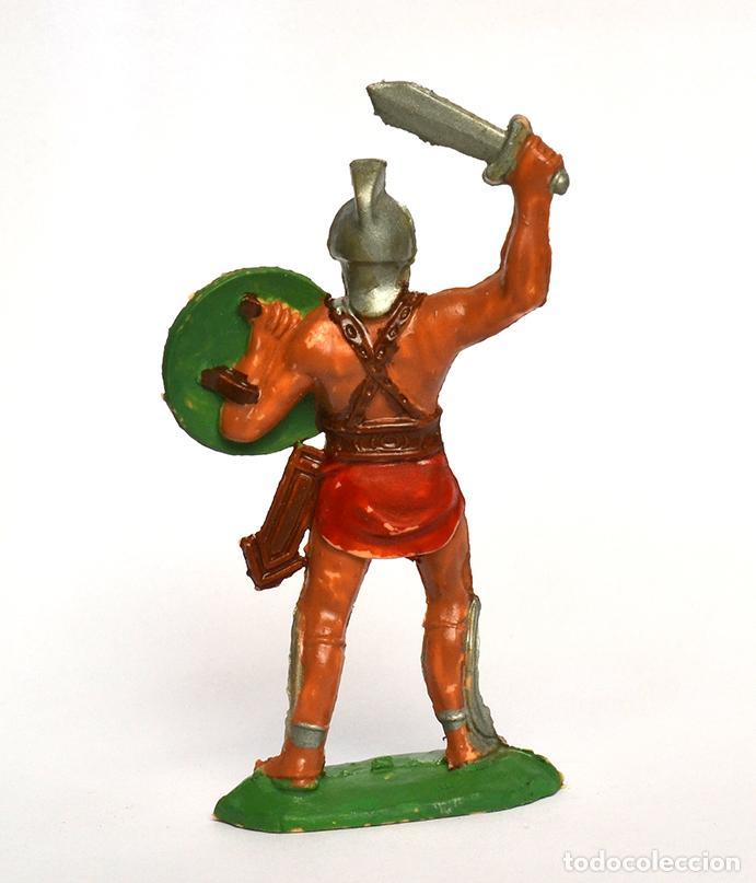 Figuras de Goma y PVC: Gladiador romano de la marca REAMSA, en plástico, circa 1960. nº 162. - Foto 2 - 219204115