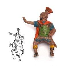 Figuras de Goma y PVC: JINETE ROMANO DE LA MARCA REAMSA, EN GOMA, CIRCA 1950. Nº 165.. Lote 219206768