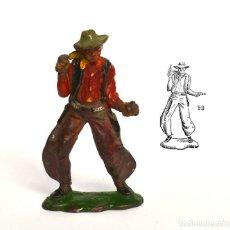 Figuras de Goma y PVC: COWBOY DE LA MARCA REAMSA, EN GOMA, CIRCA 1950, Nº 59 DEL CATÁLOGO.. Lote 219214972