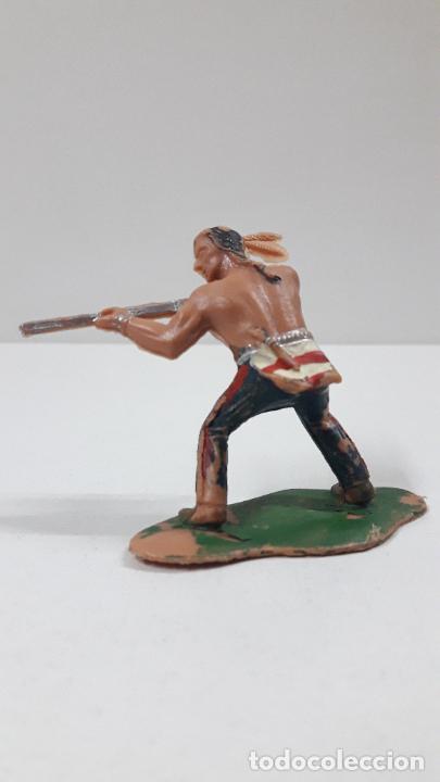 Figuras de Goma y PVC: GUERRERO INDIO . BATALLA DE LITTLE BIG HORN . FIGURA REAMSA . AÑOS 60 - Foto 2 - 219221996