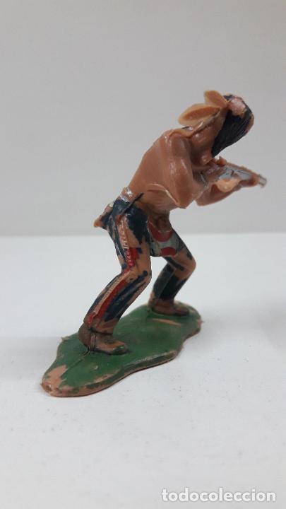 Figuras de Goma y PVC: GUERRERO INDIO . BATALLA DE LITTLE BIG HORN . FIGURA REAMSA . AÑOS 60 - Foto 3 - 219221996