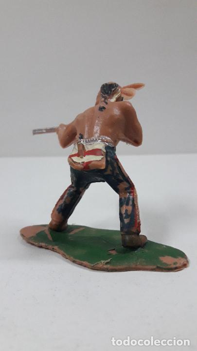 Figuras de Goma y PVC: GUERRERO INDIO . BATALLA DE LITTLE BIG HORN . FIGURA REAMSA . AÑOS 60 - Foto 4 - 219221996