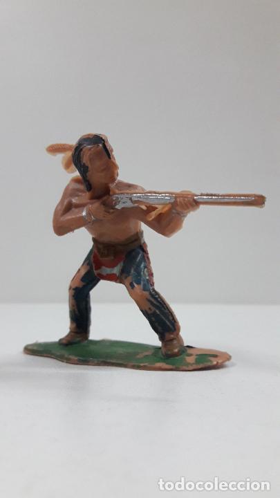 GUERRERO INDIO . BATALLA DE LITTLE BIG HORN . FIGURA REAMSA . AÑOS 60 (Juguetes - Figuras de Goma y Pvc - Reamsa y Gomarsa)