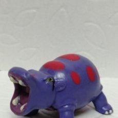 Figuras de Goma y PVC: FIGURA HIPOPÓTAMO LILA COMANSI. Lote 219345702