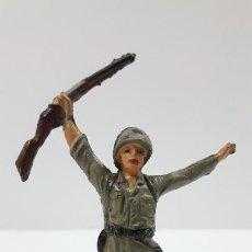 Figuras de Goma y PVC: SOLDADO AMERICANO . REALIZADO POR JECSAN . SERIE MARINES DE INFANTERIA . ORIGINAL AÑOS 50 EN GOMA. Lote 219384961