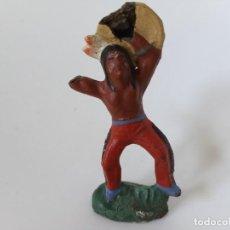 Figuras de Goma y PVC: FIGURA INDIO LINEOL ELASTOLIN. Lote 219413943