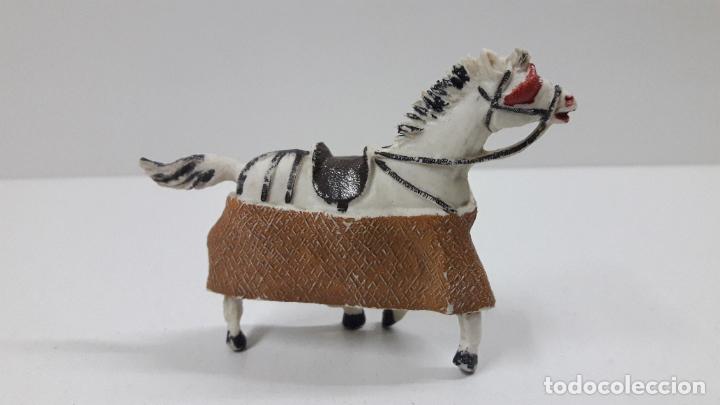 Figuras de Goma y PVC: CABALLO PARA PICADOR . REALIZADO POR TEIXIDO . ORIGINAL AÑOS 60 - Foto 2 - 219422423
