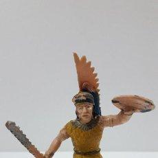 Figuras de Borracha e PVC: AZTECA - FIGURA REAMSA . SERIE HERNAN CORTES - LA CONQUISTA DE MEXICO . ORIGINAL AÑOS 60. Lote 219675205
