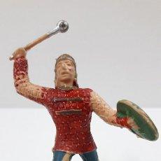 Figuras de Goma y PVC: AZTECA - FIGURA REAMSA . SERIE HERNAN CORTES - LA CONQUISTA DE MEXICO . ORIGINAL AÑOS 60. Lote 219675230
