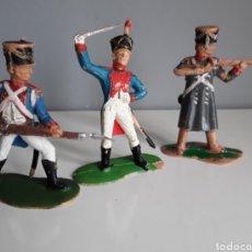 Figuras de Goma y PVC: FRANCESES, SERIE NAPOLEÓNICA/GUERRA DE INDEPENDENCIA DE REAMSA, FIGS.247, 248 Y 251 DE CATÁLOGO. Lote 219749450