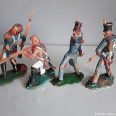 Figuras de Goma y PVC: ESPAÑOLES, SERIE NAPOLEÓNICA/GUERRA DE INDEPENDENCIA DE REAMSA, FIGS. 232, 234, 235 Y 237 CATÁLOGO. Lote 219766958