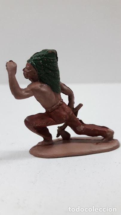 Figuras de Goma y PVC: GUERRERO INDIO . FIGURA REAMSA Nº 88 . AÑOS 50 EN GOMA . SERIE PEQUEÑA - Foto 3 - 219835332