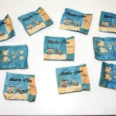 Figuras de Goma y PVC: LOTE 10 SOBRES MONTAPLEX - MOTO SCOOTER - VESPA, SOBRE AZUL ANTIGUO AÑO 1967 - SOBRES SIN ABRIR. Lote 219840095