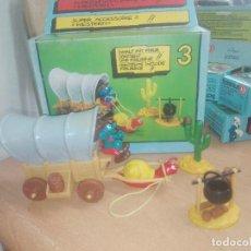 Figuras de Goma y PVC: CARAVANA OESTE PITUFOS REF. 4.0603 -- PEYO. Lote 219861792