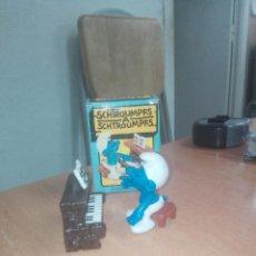 Figuras de Goma y PVC: PITUFO PIANISTA -- PEYO -- CAJA. Lote 219881998