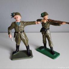 Figuras de Goma y PVC: BERSAGLIERI, SOLDADOS ITALIANOS, STARLUX FRANCE, AÑOS 70, ESCALA 6 CMS. COMP. PECH JECSAN. Lote 219914325