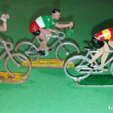 Figuras de Goma y PVC: GRUPO DE CICLISTAS DE MARIANO SOTORRES AÑOS 50/60. PLÁSTICO RÍGIDO. DISTINTOS MODELOS. Lote 220084823