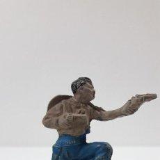 Figuras de Goma y PVC: VAQUERO - COWBOY . FIGURA REAMSA Nº 82 . ORIGINAL AÑOS 50 EN GOMA . SERIE PEQUEÑA. Lote 220088426