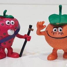 Figuras de Goma y PVC: LOS FRUITIS ALCALDE FRESON Y NARANJO - 1990 COMICS SPAIN. Lote 220097747