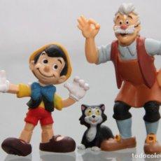 Figure di Gomma e PVC: FIGURAS PVC PINOCHO ALEGRE Y GEPETO CON EL GATO - BULLYLAND. Lote 243033880