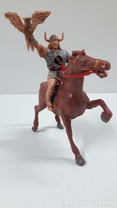 Figuras de Goma y PVC: VIKINGO GUNDAR PARA CABALLO . SERIE EL CAPITAN TRUENO ESTEREOPLAST . AÑOS 60 . CABALLO NO INCLUIDO - Foto 2 - 220414783