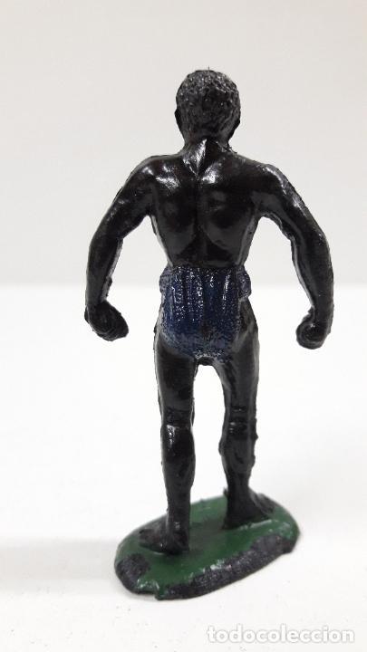 Figuras de Goma y PVC: PORTEADOR AFRICANO NEGRO . REALIZADO POR TEIXIDO . SERIE SAFARI . ORIGINAL AÑOS 60 - Foto 2 - 220422563