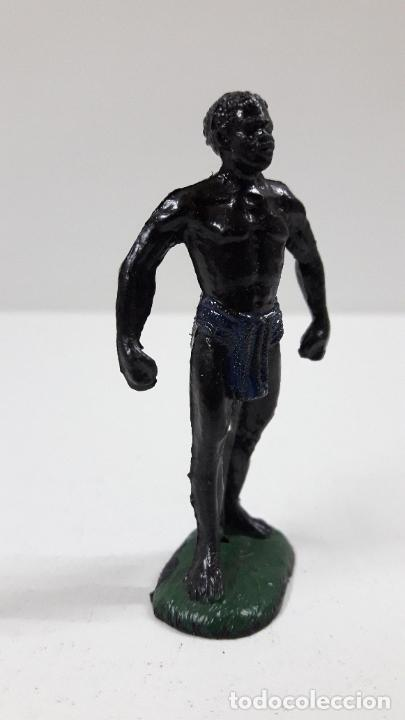 Figuras de Goma y PVC: PORTEADOR AFRICANO NEGRO . REALIZADO POR TEIXIDO . SERIE SAFARI . ORIGINAL AÑOS 60 - Foto 4 - 220422563