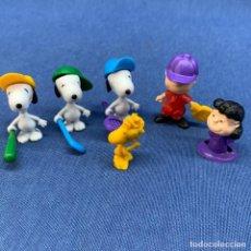 Figuras Kinder: LOTE DE 6 FIGURAS SNOOPY - HUEVO KINDER. Lote 220453808
