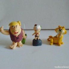 Figuras de Goma y PVC: FIGURAS PVC PABLO MARMOL BAM BAM Y TIGRE DIENTES DE SABLE LOS PICAPIEDRA. Lote 220500593