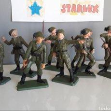 Figuras de Goma y PVC: BERSAGLIERI, SOLDADOS ITALIANOS, STARLUX FRANCE, AÑOS 70, ESCALA 6 CMS. COMP. PECH JECSAN. Lote 220525995