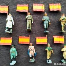 Figuras de Borracha e PVC: PECH. ABANDERADOS. 8 FIGURAS. BUEN ESTADO. ORIGINALES. AÑOS 60.. Lote 220552705
