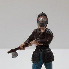 Figuras de Goma y PVC: BOMBERO . REALIZADO POR GAMA - CUERPO DESMONTABLE . ORIGINAL AÑOS 50 . EN GOMA. Lote 220564801